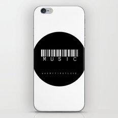 MUSIC circle iPhone & iPod Skin