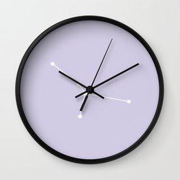 Cancer Zodiac Constellation - Lavender Wall Clock