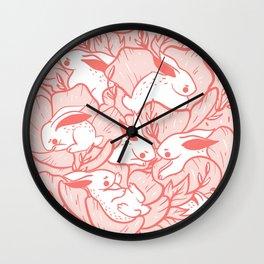Where the bunnies sleep (rose) Wall Clock