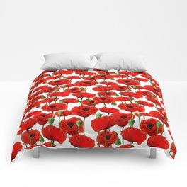 Red Poppy Pattern Comforters