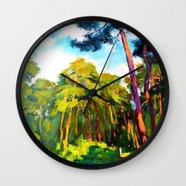 Whisper of pines Wall Clock