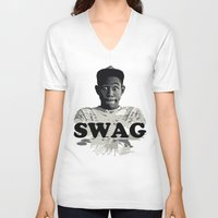 tyler the creator V-neck T-shirts featuring Tyler The Creator SWAG by Misadventures