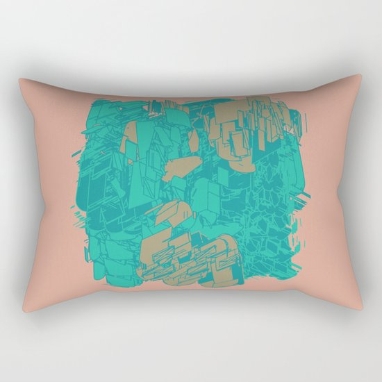 Graphic Junk Rectangular Pillow