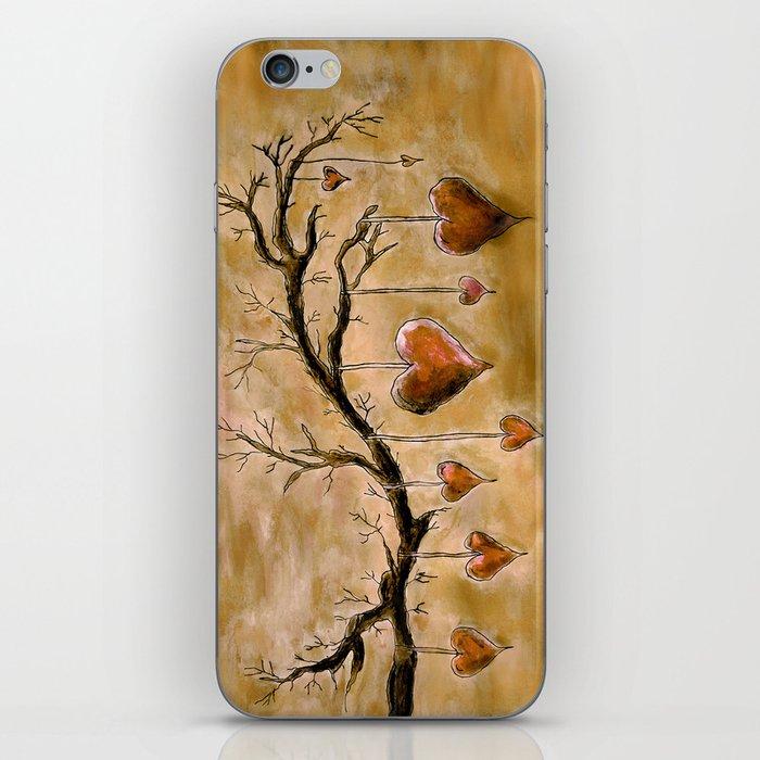 Der Liebesbaum (in Acryl) iPhone Skin