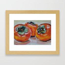 Food, fruit, persimmon, sweet, taste Framed Art Print