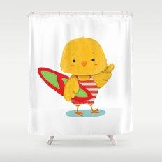 Surf Bird Shower Curtain