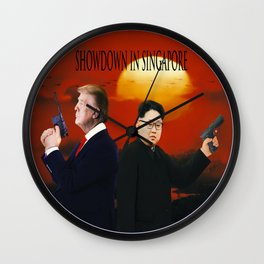 Showdown in Singapore Wall Clock