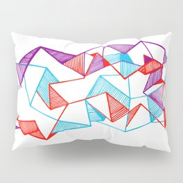 Polygon collection - Triangles geometric Pillow Sham