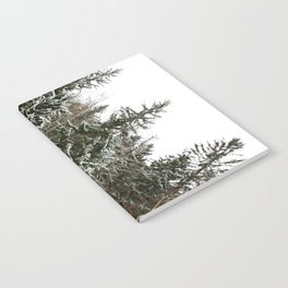 Snowy trees in the French Alps Notebook