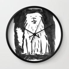fluffy dog Wall Clock