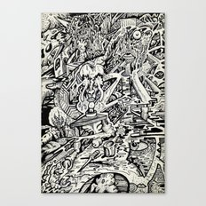 The Adept, or, a Freakish Transfiguration Canvas Print