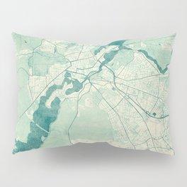 Potsdam Map Blue Vintage Pillow Sham