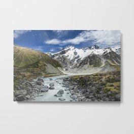 Mountain Nature Landscape New Zealand Metal Print