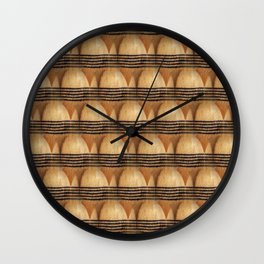 Knit pattern of sock toes Wall Clock