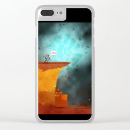 Burnt Bridge Clear iPhone Case