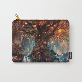 Magnificent Big Marvelous Magic Glowing Fairytale Forest Tree Light Bulbs Dreamland Ultra HD Carry-All Pouch