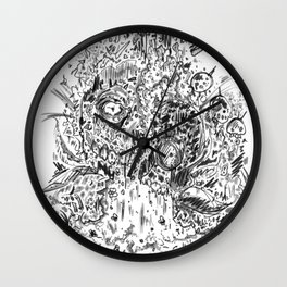 Hungry undergrowth Wall Clock