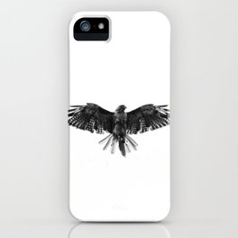 Black Bird White Sky iPhone Case