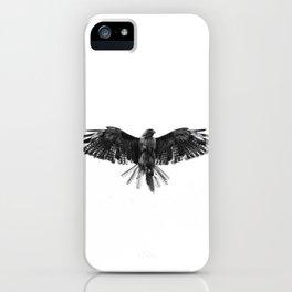 Black Bird White Sky iPhone Case
