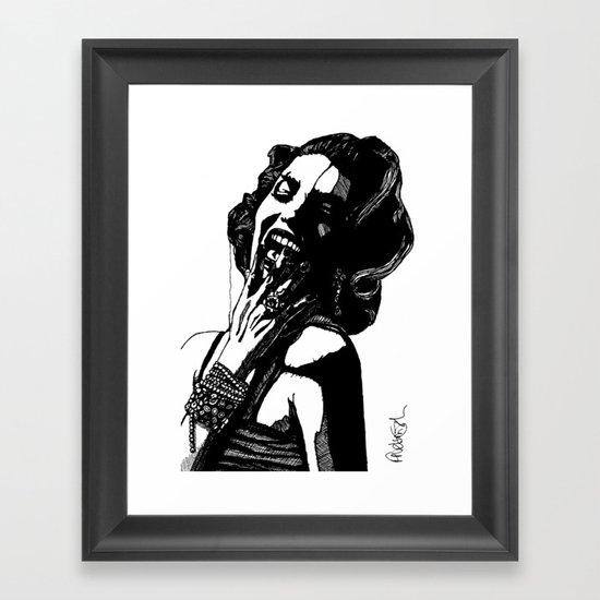 B&W Fashion Illustration - Part 2 Framed Art Print