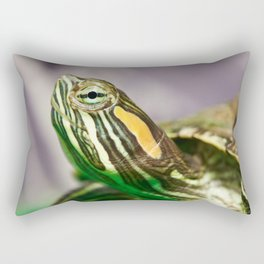 Small red-ear turtle Rectangular Pillow