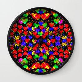 Multitude of Hearts Wall Clock