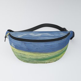 Vincent van Gogh - Wheatfield Under Thunderclouds Fanny Pack