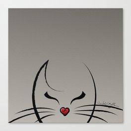 Peek-a-Boo Kitty Canvas Print