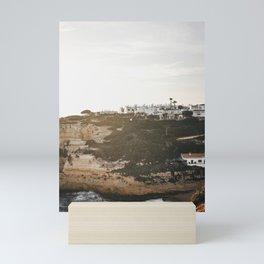 Algarve coast clifftop village | Lagos sunset, California vibes in Portugal | iconic art travel prints for wanderers, Saige Ashton Prints Mini Art Print
