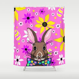 Spring Into Easter - Happy Easter Design Shower Curtain