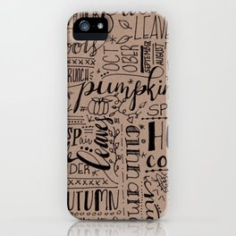 All Things Fall on Craft iPhone Case
