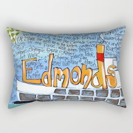 EDMONDS, WASHINGTON the town and the adventures by Seattle Artist Mary Klump Rectangular Pillow