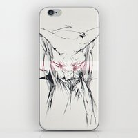 sphynx iPhone & iPod Skins featuring sphynx by Lisseau Design Lab