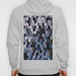 Honeycomb Pattern In Gray and Blue Wintry Colors Hoody