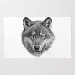 Wolf face G084 Rug