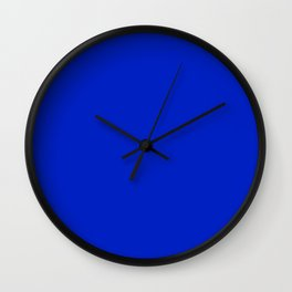 Solid Deep Cobalt Blue Color Wall Clock