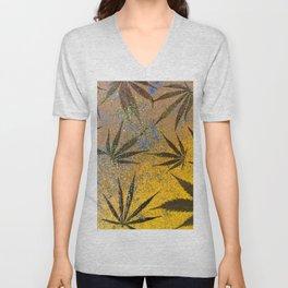 Cannabis leaves Unisex V-Neck