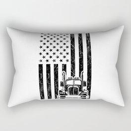 AMERICAN TRUCK FLAG Trucker Big Rig Truck Truck Rectangular Pillow