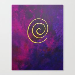 Deep Purple - Infinity Series With Gold Canvas Print