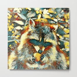 AnimalArt_Raccoon_20170901_by_JAMColorsSpecial Metal Print
