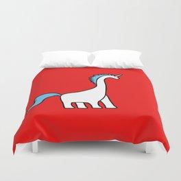 Cute Dinocorn (Unicorn Brachiosaurus) Duvet Cover