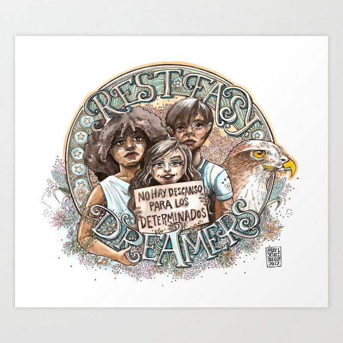 Rest Easy, Dreamers Art Print