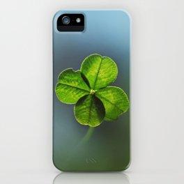 Lucky Four Leaf Clover iPhone Case