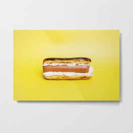 Hot Dog Eclair Metal Print