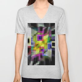 Cubism interdimensional. Unisex V-Neck