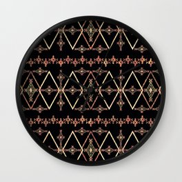 Ethnic pattern. Wall Clock