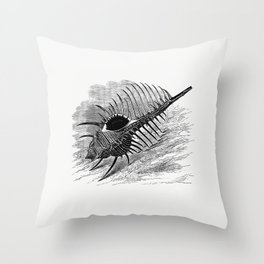 Venus comb from The Book Of The Ocean Throw Pillow