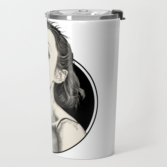 Arina Black Circle Travel Mug