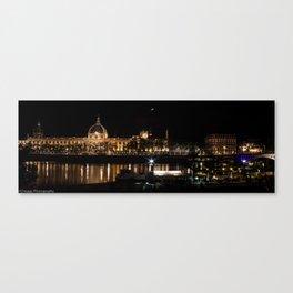 City of Lyon at night.  Canvas Print