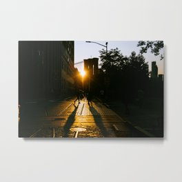 Shadowplay in the Golden Hour Metal Print